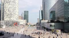 Skyscrapers in La Defense, Paris Stock Footage