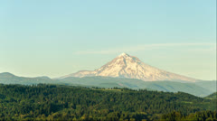 Sunset Time Lapse of Mount Hood Stock Footage