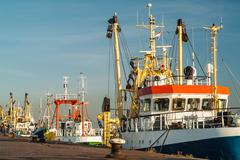 Fishing boats in the netherlands Stock Photos