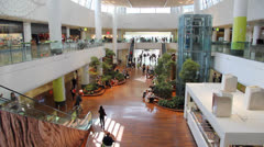 Shopping mall interior timelapse Stock Footage