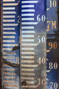 vintage amsterdam ordnance datum benchmark signs - stock photo