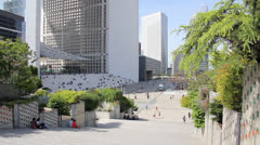 La Grande Arche, Paris France Stock Footage