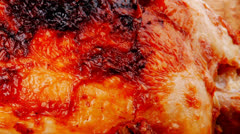 Poultry : homemade roast turkey Stock Footage