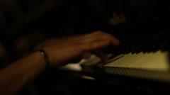 Jazz piano - stock footage