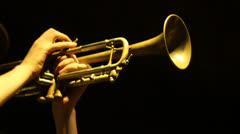 Trumpet 03 - stock footage