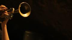 Trumpet 04 - stock footage
