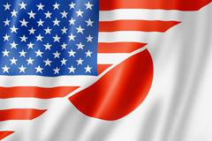Usa and japan flag Stock Illustration