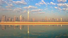 Dubai Skyline Time lapse Stock Footage