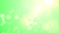 Spring luminous background with bokeh and sun  Stock Footage