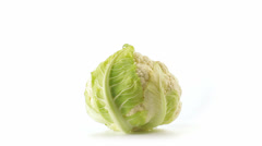 Cauliflower front view closed Stock Footage