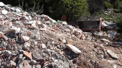 Construction debris dump Stock Footage