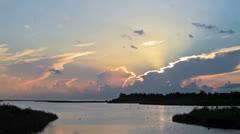 Timelapse of Beautful sunrise with nice beach Stock Footage