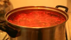 Vegetable sauce Stock Footage