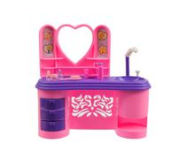 old pink handbasin toy - stock photo
