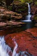 Adam's falls and a small cascade on kitchen creek in ricketts glen state park Stock Photos