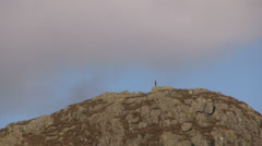 Man on a Lake District mountain Stock Footage