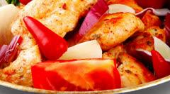 Chicken brisket slices Stock Footage