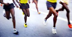 Maratoonarit - pehmennetty liike Kuvituskuvat