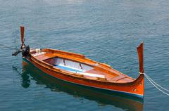 Traditional row boat luzzu malta Stock Photos