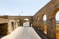 Aqueduct victoria in gozo Stock Photos