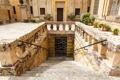 ancient stairs in rabat (victoria) - stock photo