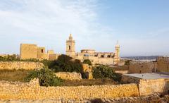 ancient il-katidral in the castle rabat (victoria) - stock photo
