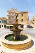 gozo, malta. fountain - stock photo