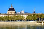 Stock Photo of horizontal view of rhone river