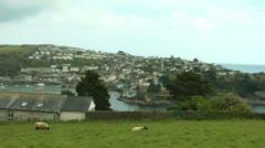 Polruan, Cornwall,  UK Stock Footage