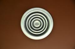 an industrial ventilation fan - stock photo