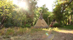 Teepee dolly shot Stock Footage