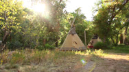 Stock Video Footage of Teepee dolly shot