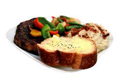 Steak meal Stock Photos