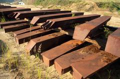 metal sleepers - stock photo