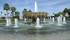 Palm Springs Airport Fountain Stock Footage