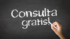 free consultation (in spanish) - stock illustration