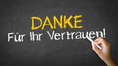thank you for your support (in german) - stock illustration
