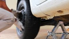 Tyre repair Stock Footage