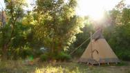 Stock Video Footage of Teepee pan