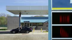 Gas Price Gamble Stock Footage