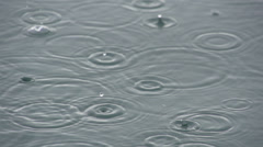 SLOW MOTION: Raindrops Stock Footage