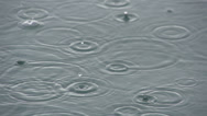 Stock Video Footage of SLOW MOTION: Raindrops