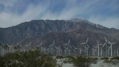Palm Springs Windmills Stock Footage