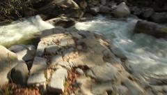 Mountain steam glidecam shot Stock Footage