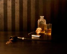 Still life with pipe Stock Illustration