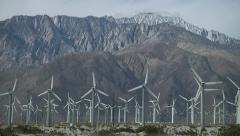 San Gorgonio Pass Wind Farm Stock Footage