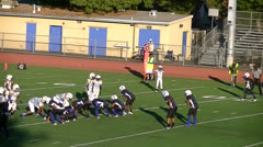 Youth Quarterback Pass To Receiver Stock Footage
