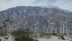 San Gorgonio Pass Windmills Stock Footage