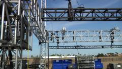 Concert stage rigging Stock Footage