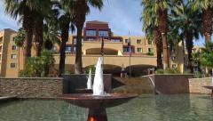Water Fountain at Palm Springs Renaissance Stock Footage
